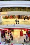 Royal Meenakshi Mall Bangalore India. Crowd at Royal Meenakshi Mall in Bangalore, India with pongal decorations Royalty Free Stock Photo