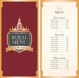 Royal menu with Big Ben Royalty Free Stock Images