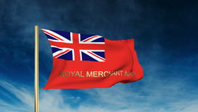 Royal Merchant Navy flag slider style with title stock video footage