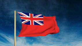 Royal Merchant Navy flag slider style. Waving in stock footage