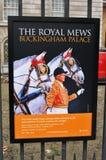 The Royal Mews. At Buckingham Palace Royalty Free Stock Photography