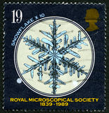 Royal Microscopical Society UK Postage Stamp Royalty Free Stock Images