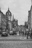 Royal Mile Edinburgh City, Scotland. Royalty Free Stock Images