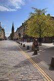 Royal Mile Edinburgh City, Scotland. Leading from Edinburgh Castle to the Palace of Holyrood house, Edinburghs Royal Mile is the heart of Scotlands historic Royalty Free Stock Image