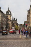 The Royal Mile in Edinburgh, Scotland Royalty Free Stock Photos