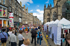 Royal Mile during festival Stock Image