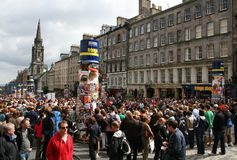 Royal Mile during festival Royalty Free Stock Photography