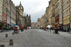 Royal Mile. Royal Mail,main street of the Old Town.Edinburgh stock photography