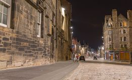 Royal Mile at night, Edinburgh Stock Photos