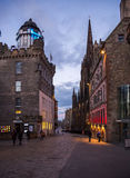 The Royal Mile street at the dusk light Royalty Free Stock Image