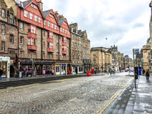 The Royal Mile street in Edinburgh old town, UK Stock Photography