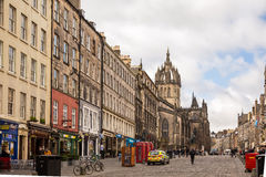 The Royal Mile street Stock Photo