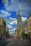 Royal Mile. A view of the Royal Mile in Edinburgh, Scotland Stock Images