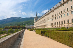 Royal Monastery of San Lorenzo de El Escorialo. The garden in Royal Monastery of San Lorenzo de El Escorial Stock Images