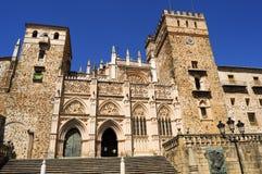 Royal Monastery of Santa Maria de Guadalupe Stock Images