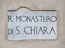 Royal Monastery of  St. Chiara Royalty Free Stock Photos