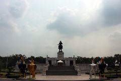 Royal Monument of King Naresuan the Great King`s Royalty Free Stock Photography