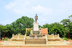 Royal Monument of King Rama 1, Ayutthaya, Thailand Royalty Free Stock Photo