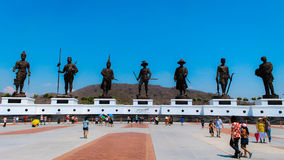 Royal Monument of Thailand at Hua-Hin Thailand. Royal Monument of 7 Kings at Hua-Hin Thailand Royalty Free Stock Image