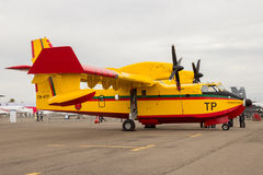 Royal Moroccan Air Force Canadair CL-415 water bomber airplane Royalty Free Stock Photos