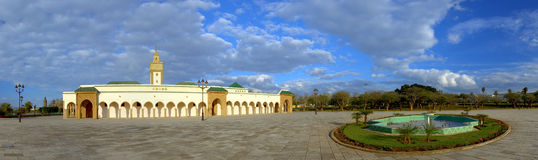 Panorama of royal mosque (Ahl Fas), Rabat - Morocco Royalty Free Stock Photos