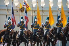 Royal Mounted Guards Row Royalty Free Stock Images