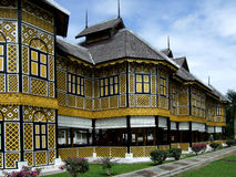 Royal Museum of Kuala Kangsar. Royal Museum in yellow color of Kuala Kangsar in Malaysia becomes historical landmark used to be the palace for royal family of Stock Photography