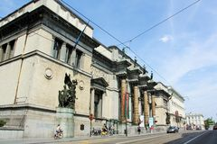 Royal Museums of Fine Arts of Belgium. In Brussels. The main building which now houses the Museum of Ancient Art was completed in 1887, built as the Palais des Royalty Free Stock Image
