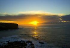 Royal National Park coast, Australia, at sunrise. stock photography