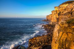 Royal National Park coast, New South Wales, Australia, in the morning. Royal National Park coast, Australia, in the morning. View near Providential Point stock images