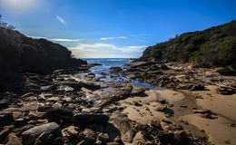 Royal National Park, cove near Curracurracong stock images