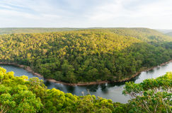 Royal National Park and Hacking River from Bangoona Lookout Stock Photo