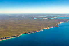 Royal National Park. Aerial view of Wattamolla, Royal National Park, a protected national park That Is located south of Sydney, New South Wales, in eastern royalty free stock image