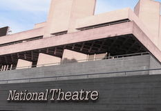 The Royal National Theatre iconic masterpiece of the New Brutali Royalty Free Stock Image