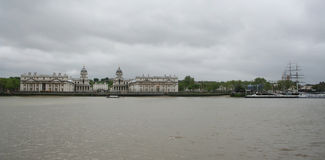 Royal naval college and Cutty Sark, Greenwich Royalty Free Stock Photography