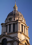 Royal Naval College, Greenwich. One of the clock towers at the Old Royal Naval College in Greenwich, London Stock Photos