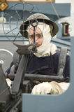 Royal Navy anti aircraft gunner sailor WWII Royalty Free Stock Images