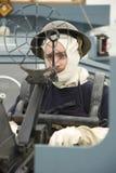 Royal Navy anti aircraft gunner sailor WWII royalty free stock images