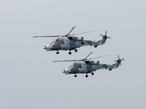 Royal Navy Black Cat Helicopter Display Team Stock Photos