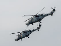 Royal Navy Black Cat Helicopter Display Team. At Dunsfold Stock Photo