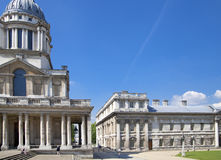 Royal navy chapel and classic colonnaden Royalty Free Stock Images