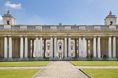 Royal navy chapel and classic colonnaden Royalty Free Stock Photography