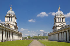 Royal navy chapel and classic colonnaden Stock Photos