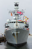 Royal Navy frigate Royalty Free Stock Image