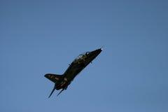 Royal Navy Hawk jet. RAF Fairford UK air show fast jet close up flying pilot Royalty Free Stock Image