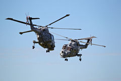 Royal Navy Helicopter Display Team 'Black Cats' Royalty Free Stock Photo