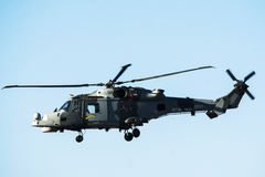 Royal Navy helicopter Royalty Free Stock Photography