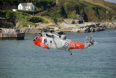 Royal Navy Helicopter Royalty Free Stock Photo
