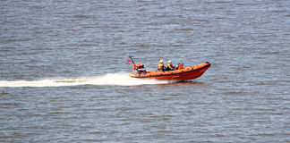 Royal navy lifeboat sea rescue Stock Image