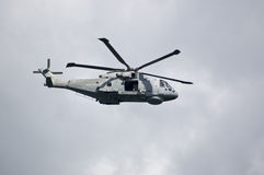 Royal Navy Merlin Helicopter, Portland Stock Images
